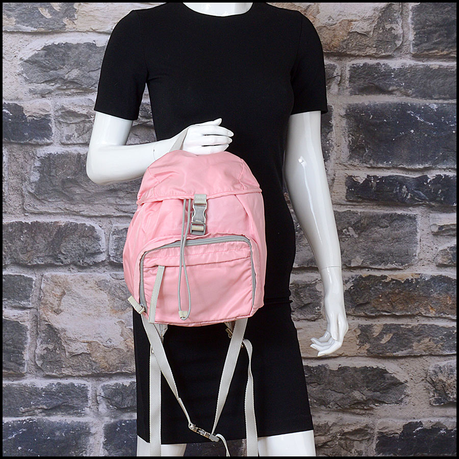 RDC10981 Prada Pink Nylon Small Backpack model