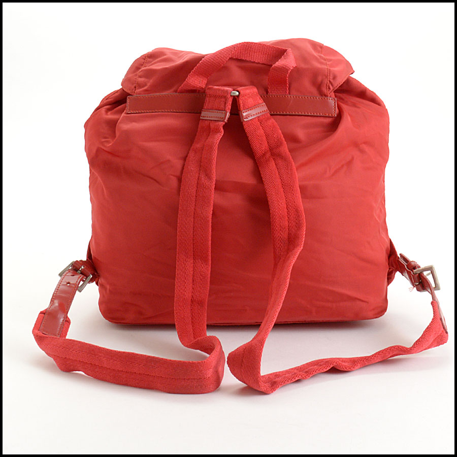 RDC10851 Prada Red Nylon Backpack back