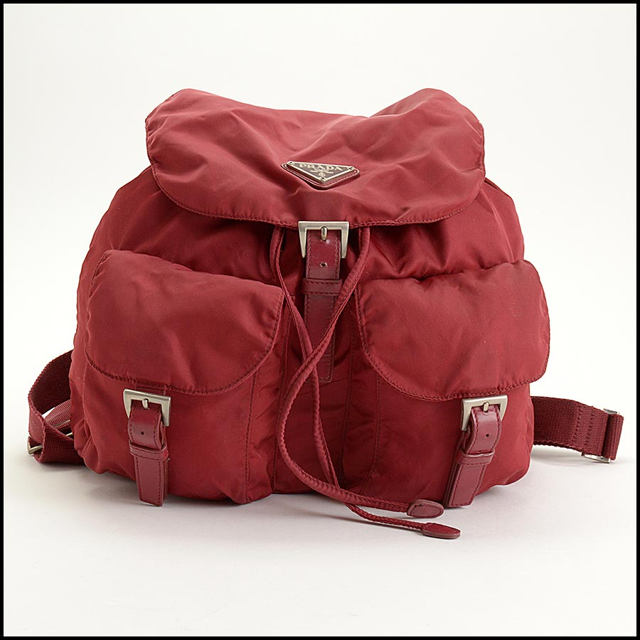 RDC11285 Prada Red Nylon Backpack