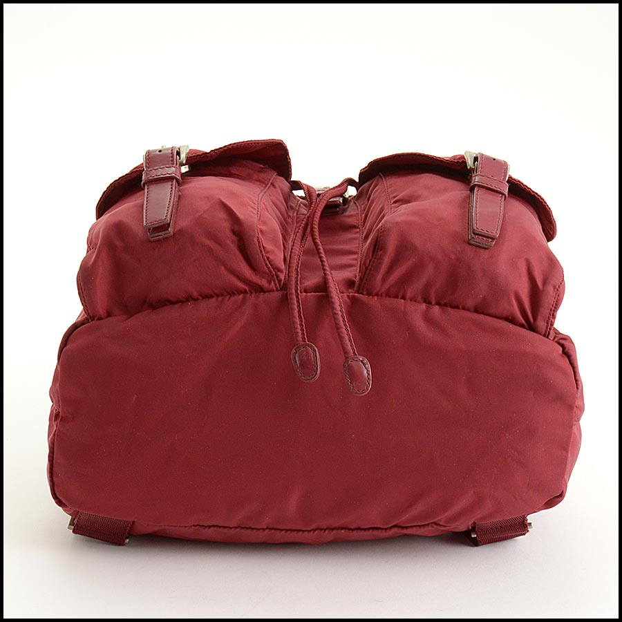 RDC11285 Prada Red Nylon Backpack bottom