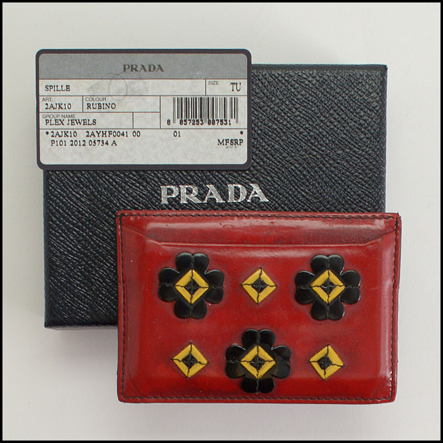 RDC10484 Prada Rubino Plex Jewels Card Wallet