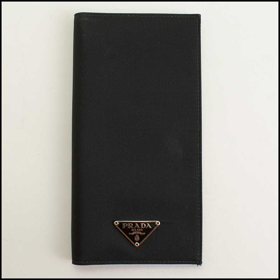 RDC11392 Prada Black Nylon Checkbook Cover