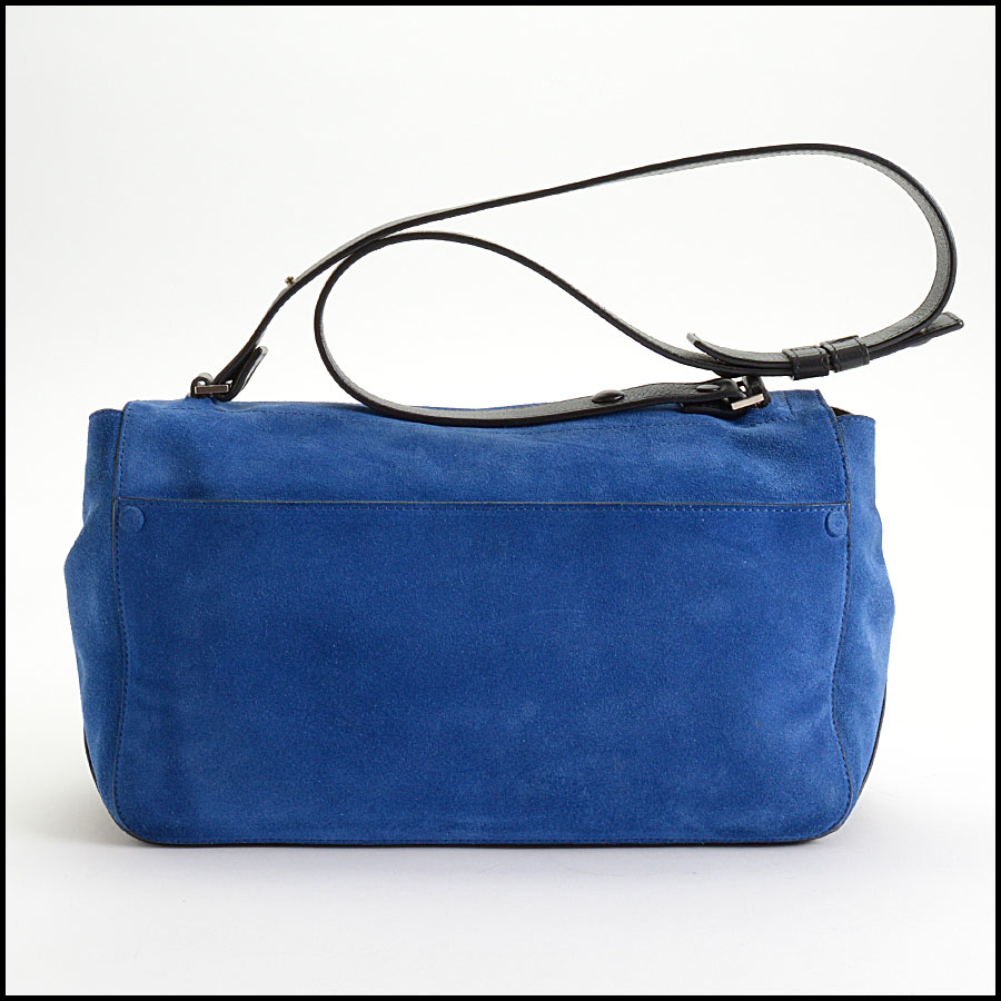 RDC10307 Proenza Schouler Blue Suede Bag back