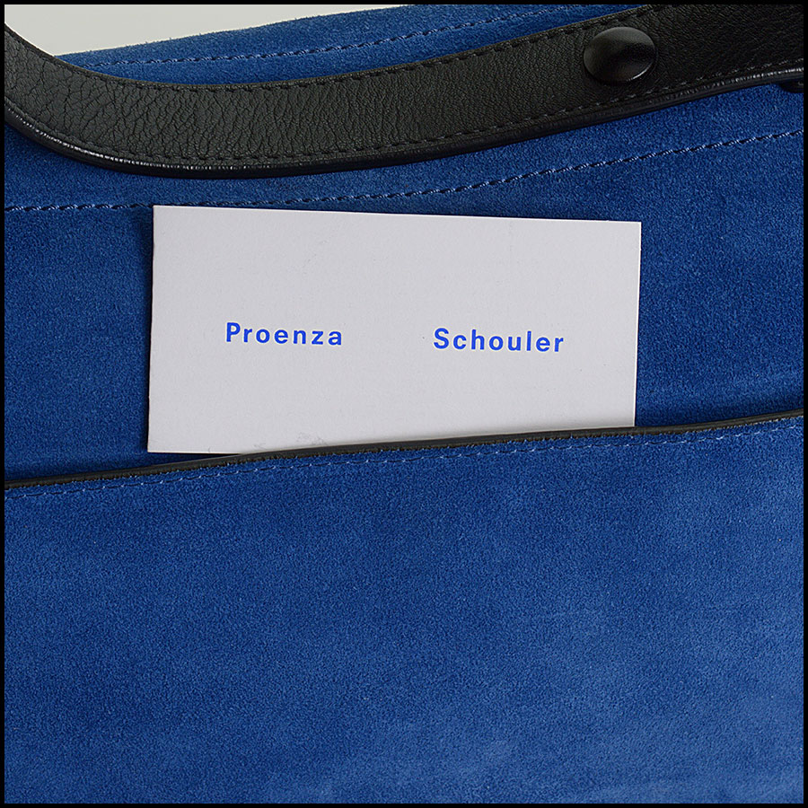 RDC10307 Proenza Schouler Blue Suede Bag includes