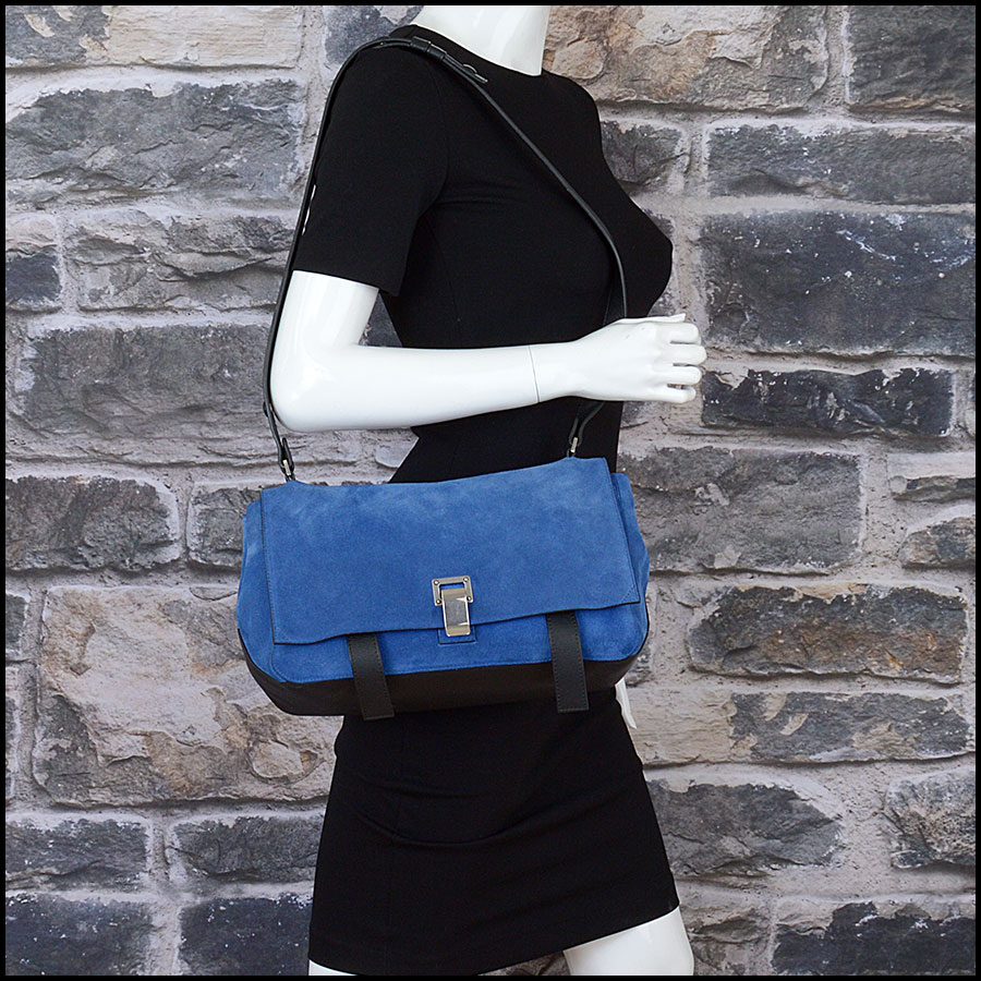 RDC10307 Proenza Schouler Blue Suede Bag model