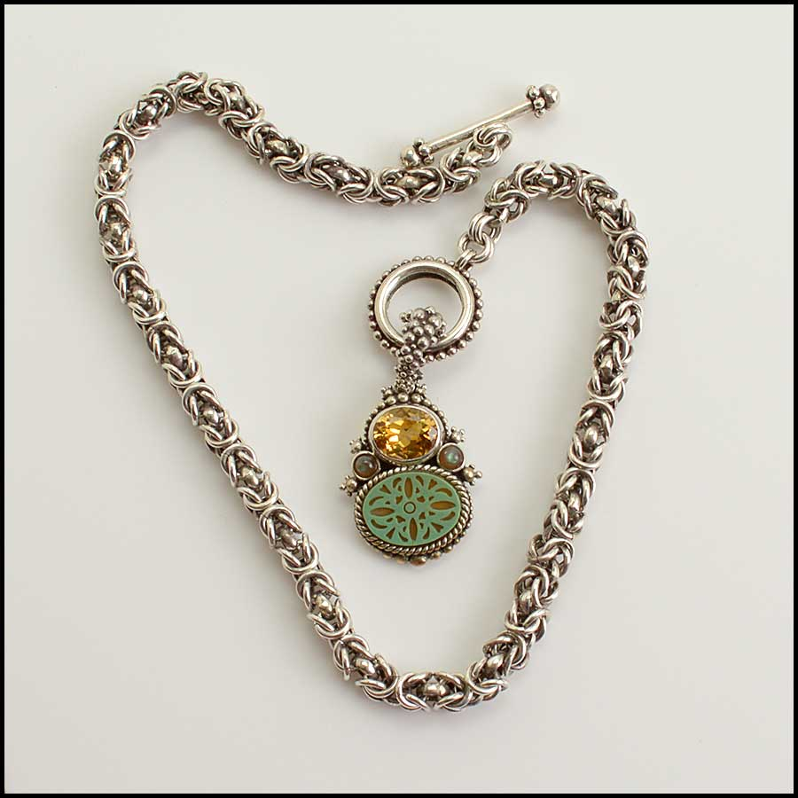 RDC11585 Stephen Dweck Sterling Chain Necklace w/Pendant