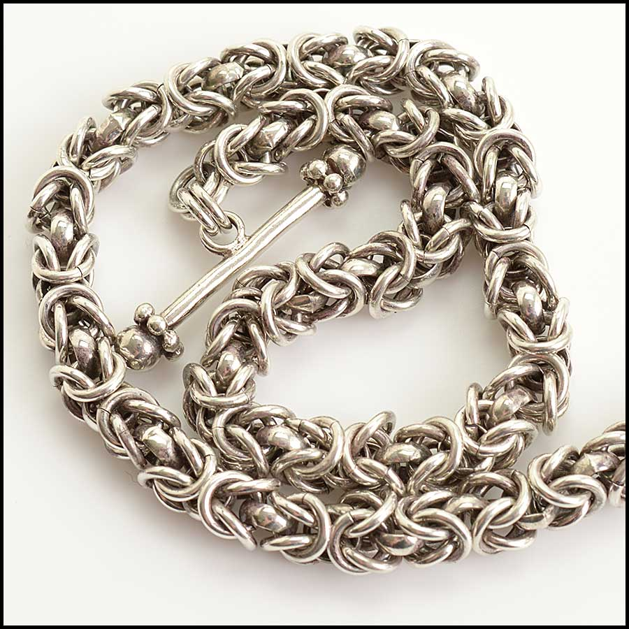 RDC11585 Stephen Dweck Sterling Chain Necklace w/Pendant close up
