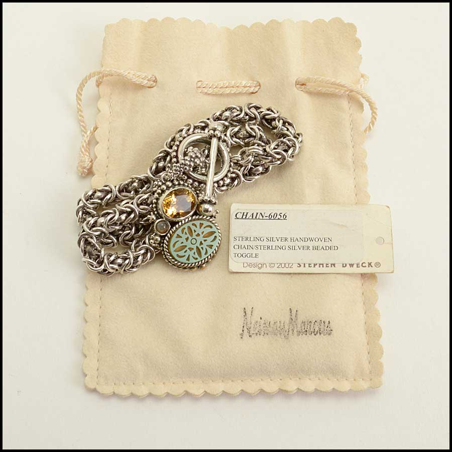 RDC11585 Stephen Dweck Sterling Chain Necklace w/Pendant includes