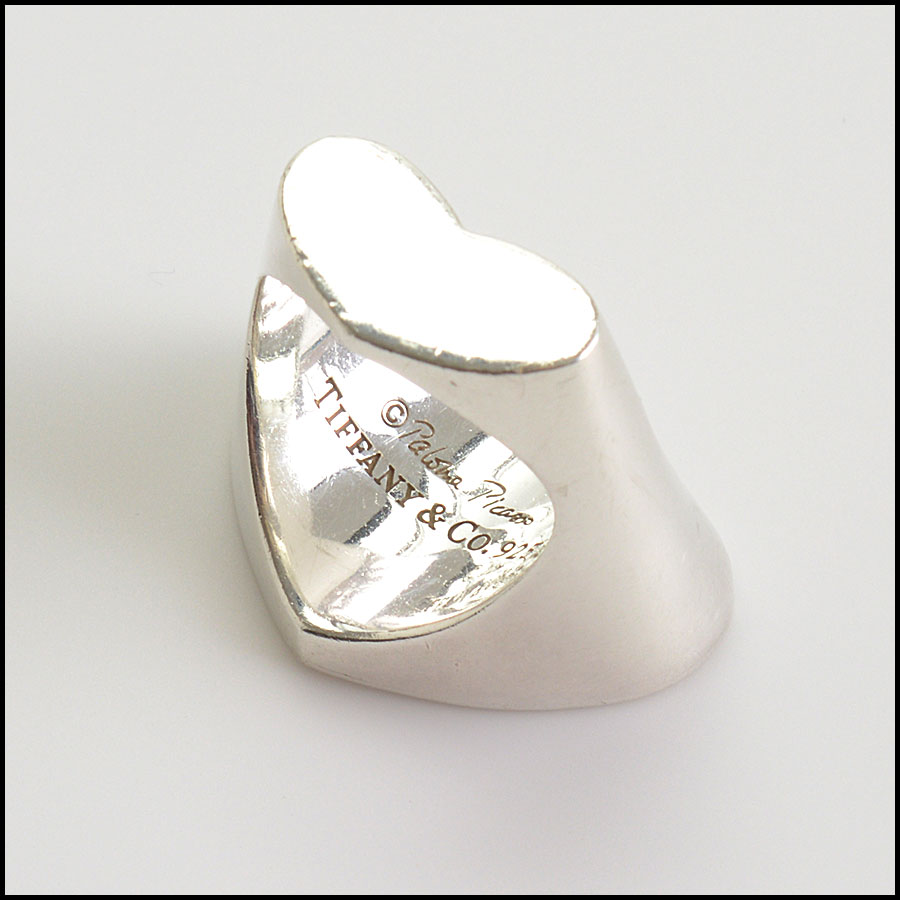 RDC10769 Tiffanmy & Co. Sterling Paloma Picasso Double Heart Ring back