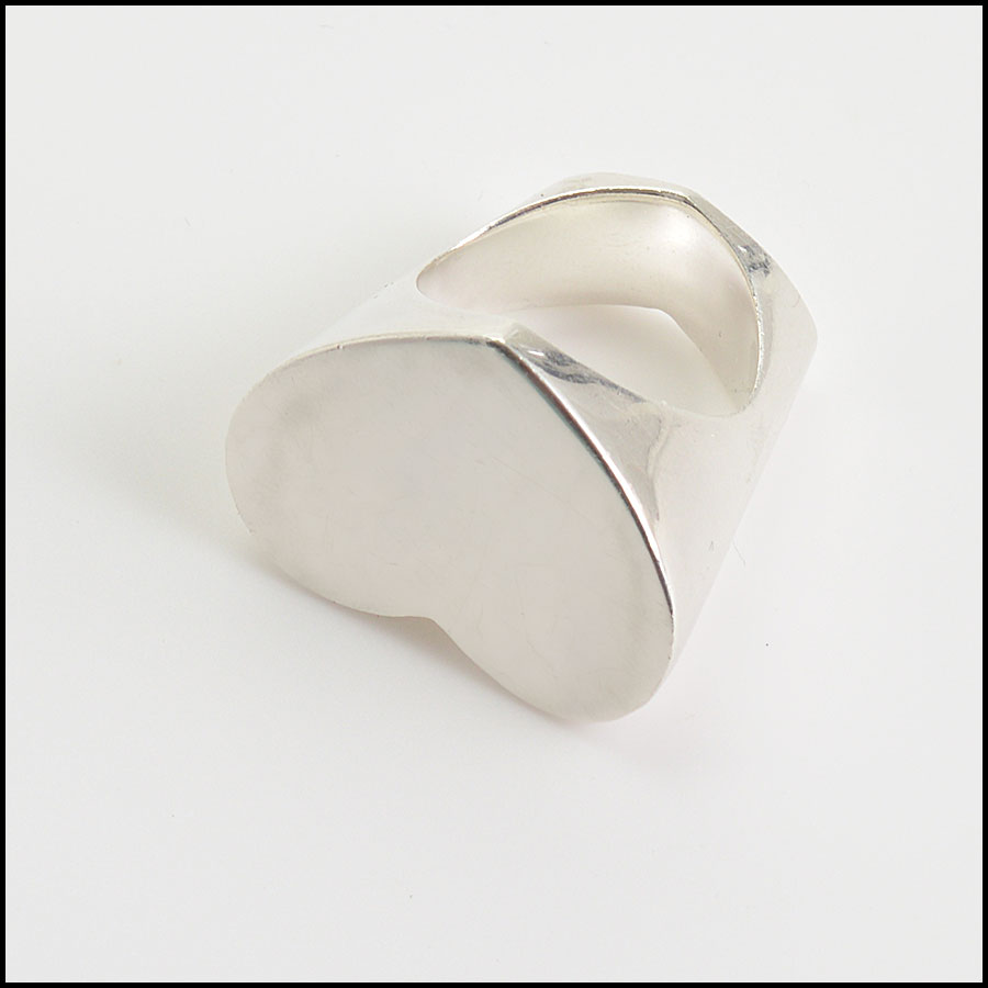 RDC10769 Tiffanmy & Co. Sterling Paloma Picasso Double Heart Ring bottom