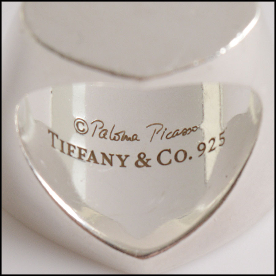 RDC10769 Tiffanmy & Co. Sterling Paloma Picasso Double Heart Ring tag