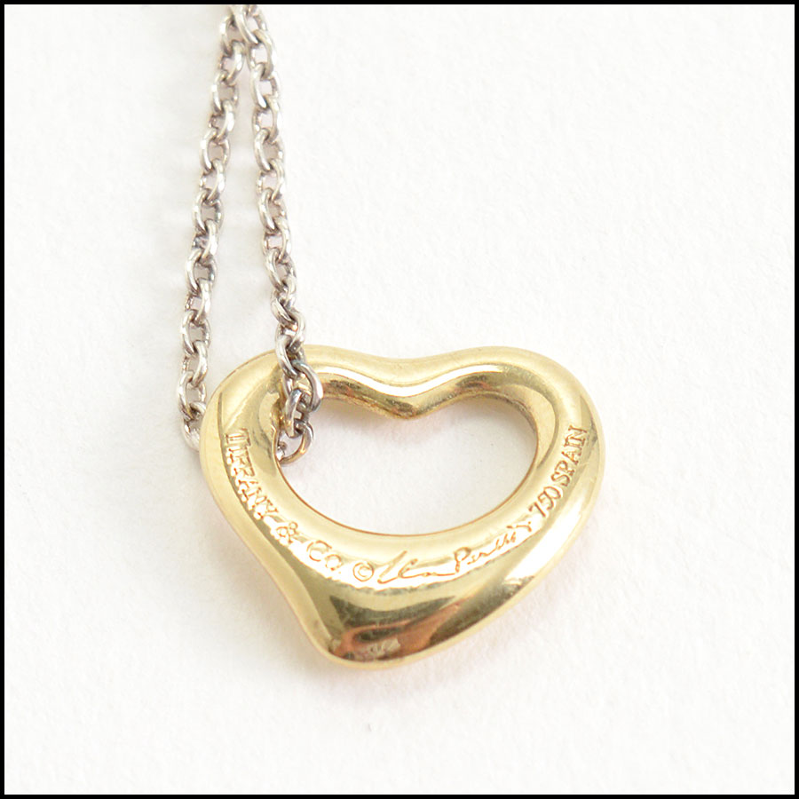 RDC10195 Tiffany & Co. Open Hearts Necklace close up