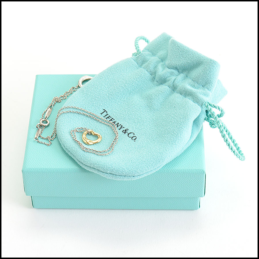 RDC10195 Tiffany & Co. Open Hearts Necklace includes