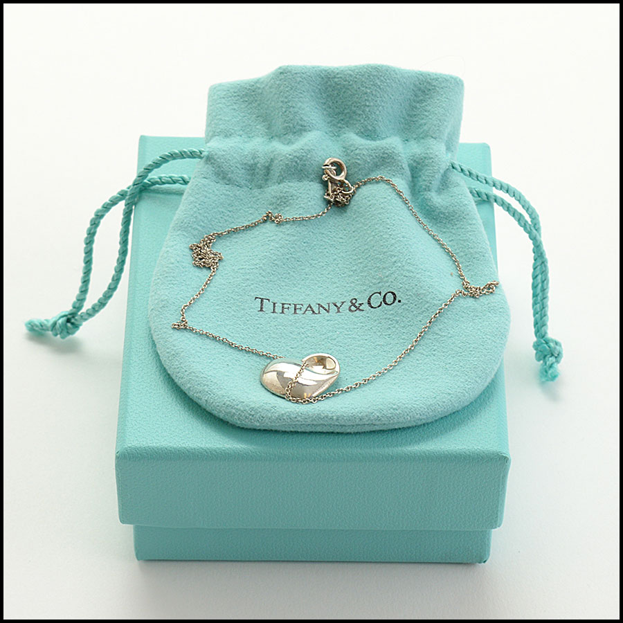 RDC10548 Tiffany & Co. Sterling Heart Pendant Necklace