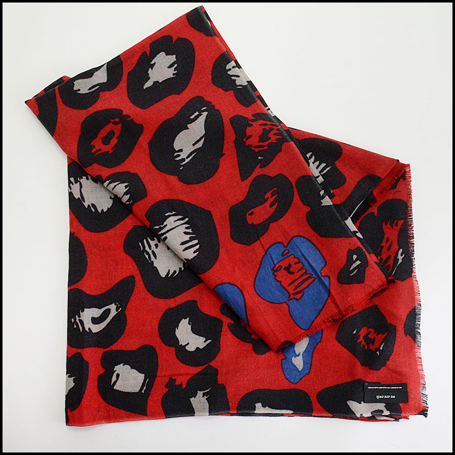 RDC10444 We Are Owls Red Cashmere Wrap